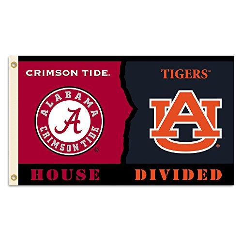NCAA Alabama vs. Auburn 3 Ft. X 5 Ft. Flag with Grommets - Rivalry House Divided