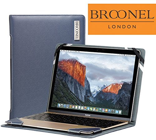 Broonel London - Profile Series - Blue Leather Luxury Laptop Case For the Acer Aspire Switch 11 V SW5-173