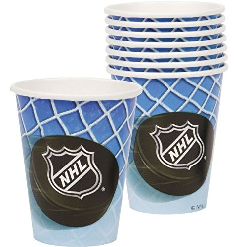 Review Sports and Tailgating NHL Party Time Paper Cups Tableware, 8 Pieces, Made from Paper, Hockey Themed Party/Sports Themed Party , 9 oz. by Amscan