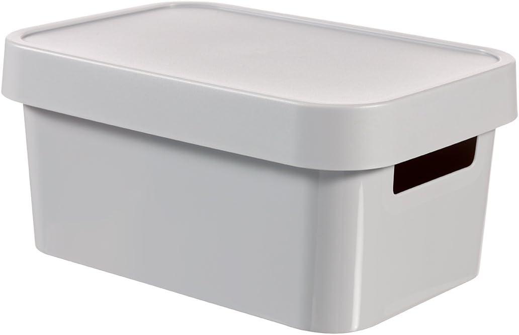 Curver Storage Box Infinity mit Deckel 10,55x7,32x4,88in in Light Grey