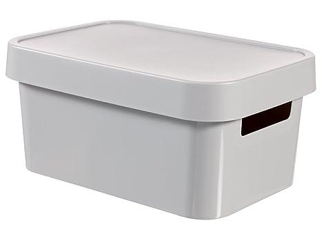 Amazoncom Curver Storage Box Infinity Mit Deckel 1055x7