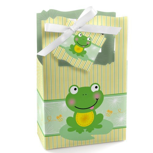 Froggy Frog - Baby Shower or Birthday Party Favor Boxes - Set of 12
