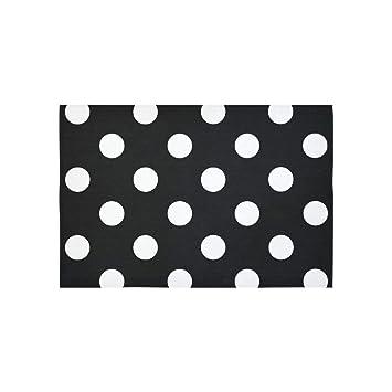 Muster Tapisserie Statisches Weiß Punkte Tumblr Schwarz