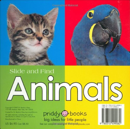 Slide and Find - Animals by Priddy Books (Image #1)