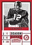 Joe Namath football card (Alabama Crimson Tide NCAA College) 2017 Contenders Draft Picks Season Ticket #52