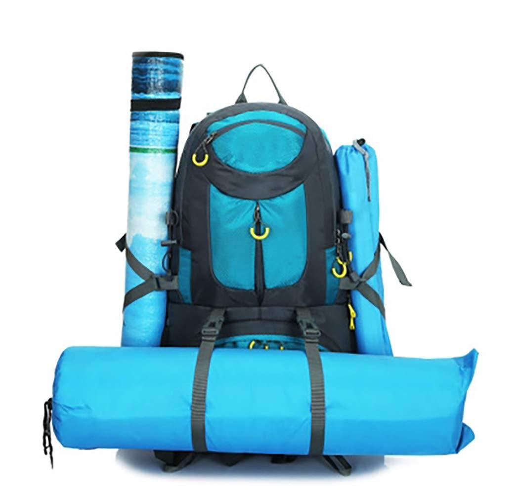 ZZSH De Gran Al Capacidad Al Gran Aire Libre De Deportes De Viajes Bolsa De Montañismo Impermeable Senderismo Camping Mochila Equipo De Pesca Suministros,Azul,M 4d6dbb