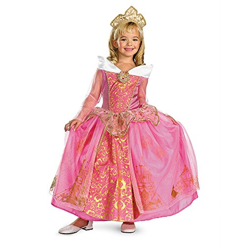 [Storybook Aurora Prestige Costume - Small (4-6x)] (Halloween Storybook Costumes)
