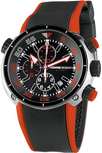 Momo Design Diver Pro Quartz watch, Stainless Steel 316L, Chronograph, 47mm.