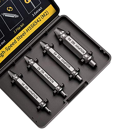 ROUPHY Damaged/Stripped Screw Extractor Set