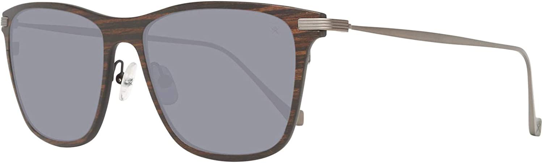 Hackett London Herren Kunststoff /& Titan Sonnenbrille Trapez-Style Braun SALE