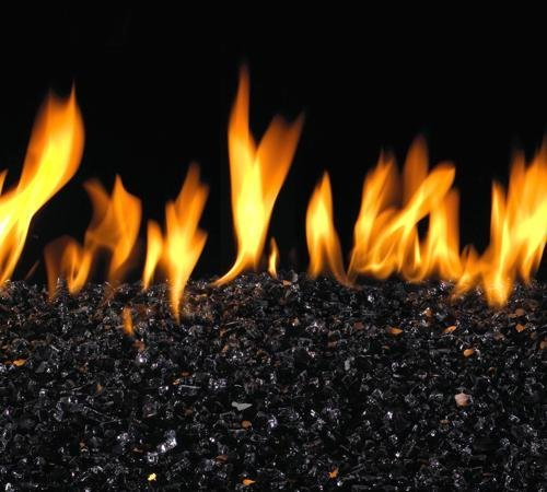 Black Colored Fire Glass for Peterson Burner Systems and Gas (Peterson Outdoor Fire Pit)