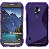 Silicone Case for Samsung Galaxy S5 Active - S-Style purple - Cover PhoneNatic + protective foils