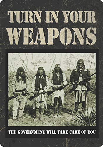 Rivers Edge Products Turn In Your Weapons Tin Sign, ()