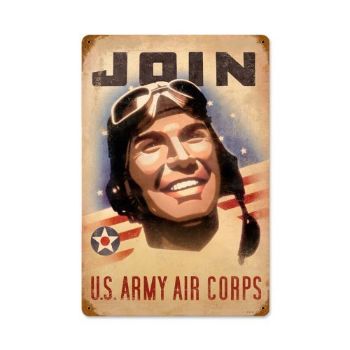 mdrqzdfh Eletina intern 12 ww2 Join The Army Air Corps Vintage Metal Sign Military WW2 12 X 17.8 Not Tin by The Vintage Sign Store ww2 lamp