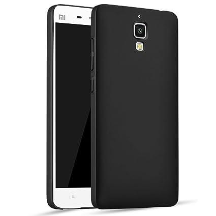 Apanphy Xiaomi 4 Carcasa, Alta calidad Ultra Slim Hard sedoso Scrub Shell plena protección trasera piel siento cover para Xiaomi 4 Negro