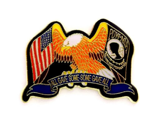 (Wholesale Lot of 12 Eagle POW MIA & USA Flags All Gave Some Lapel Hat Pin PPM6042)