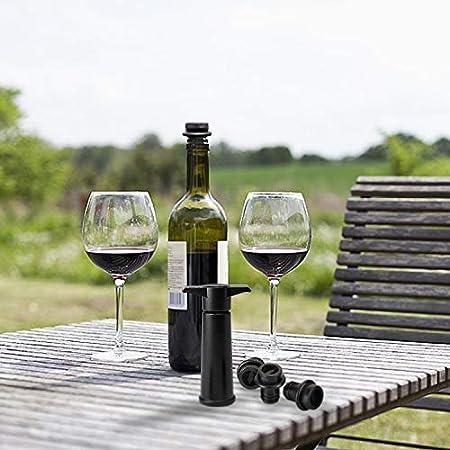 Hentek - Bomba de Vació Vino con 4 Tapones Vacio Vino - La Mejor Manera de Conservar Su Vino