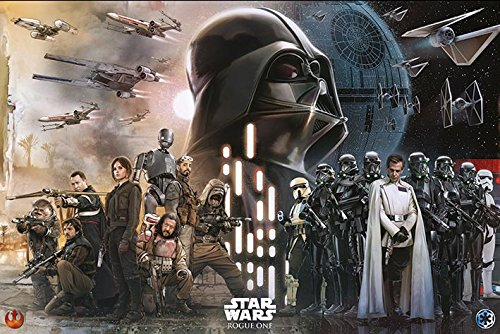 Star Wars: Rogue One - Movie Poster / Print The Rebels Vs. The Empire