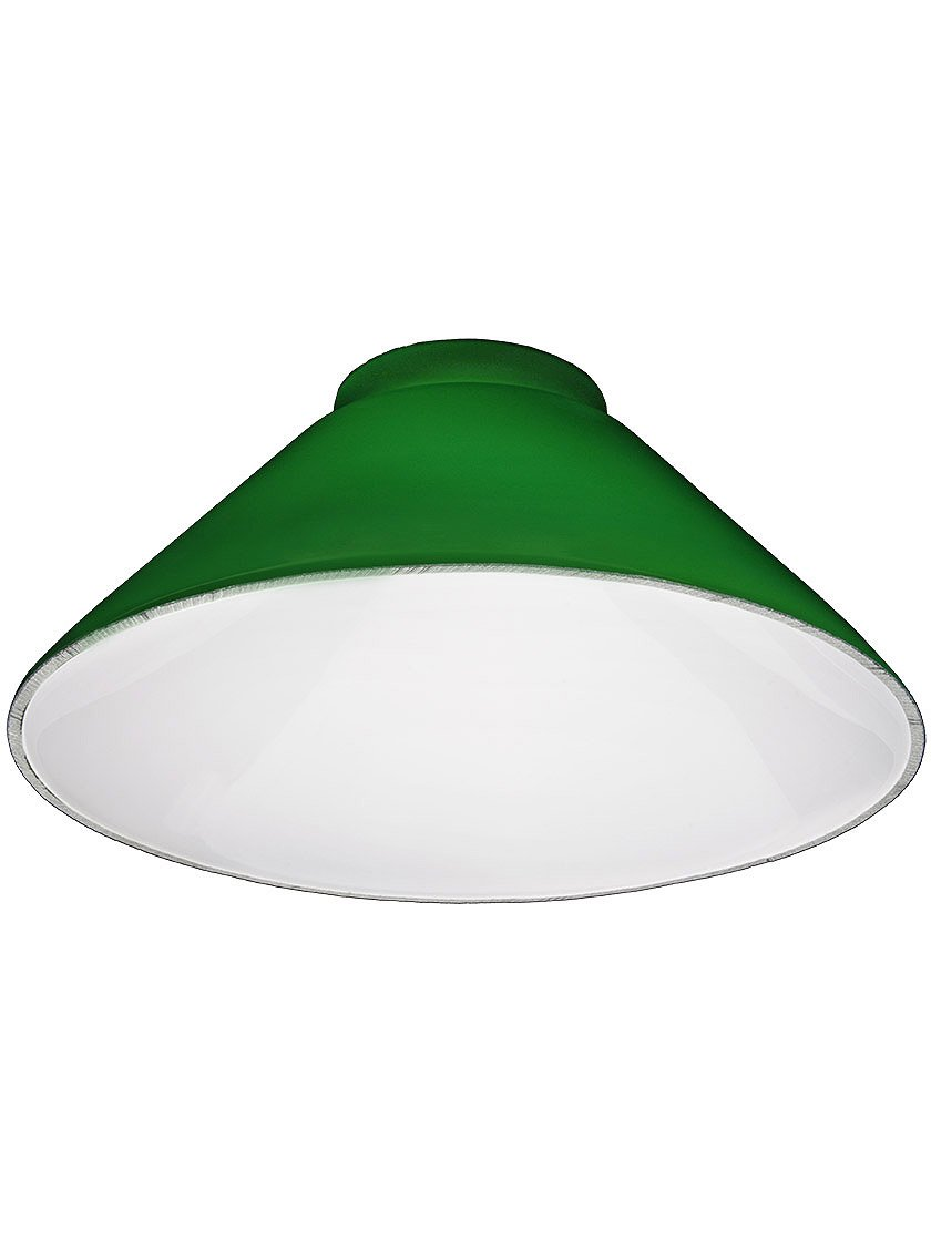 Green cone shade with 3 14 fitter lampshades amazon mozeypictures Image collections