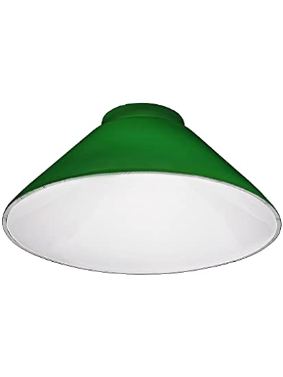 Green Cone Shade With 3 14 Fitter Lampshades Amazoncom