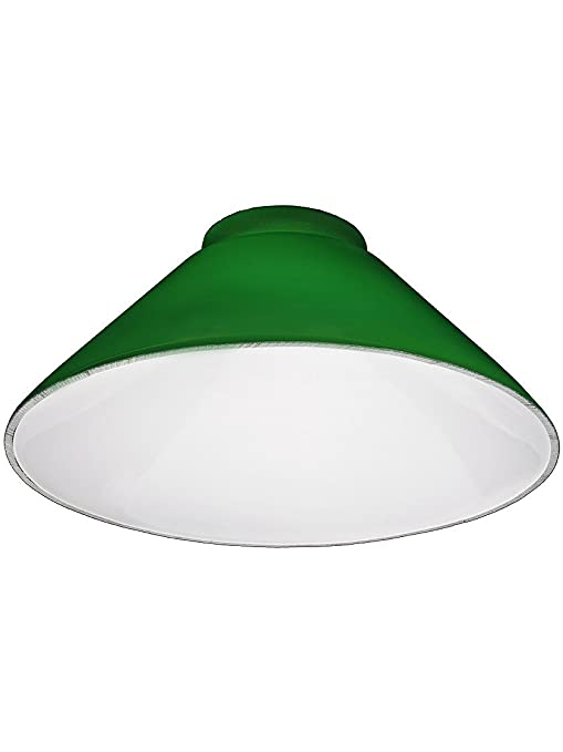 Green cone shade with 3 14 fitter lampshades amazon aloadofball Images