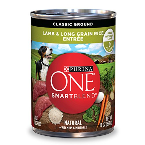 Purina ONE SmartBlend Natural Classic Ground Lamb & Long Grain Rice Entree Adult Wet Dog Food - Twelve (12) 13 oz. Cans