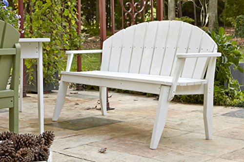 (Uwharrie Chair Co P074-82-Coffee-Dist-Pine Plaza 4-Seat Bench Back, Coffee-Distressed)
