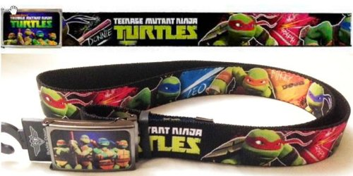 Frame Jigsaw Adjustable (TMNT Ninja Turtle Belt Adjustable with Black Frame Logo (fit both kids and Adult belt loop and cut to fit))