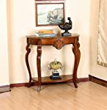 All Things Cedar HR120 Ornamental Console Table, Cherry For Sale