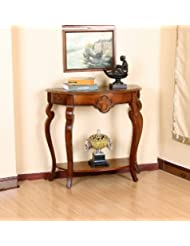 All Things Cedar Ornamental Console Table, Cherry