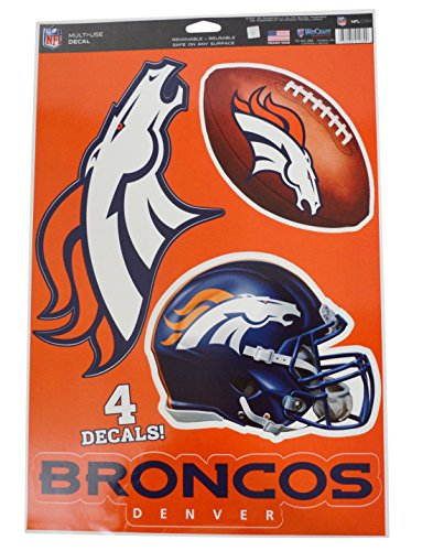 Official National Football League Fan Shop Licensed NFL Shop Multi-use Decals (Denver - Denver Shops