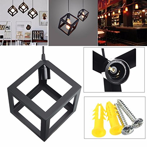 Hitommy E27 Loft Industrial Retro Vintage Ceiling Lampshade Edison Pendant Light Chandelier
