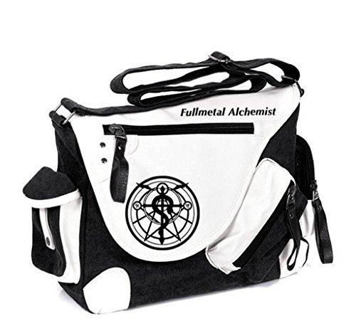 Siawasey Fullmetal Alchemist Anime Cosplay Backpack Messenger Bag Shoulder Bag - Full Alchemist Bag Messenger Metal