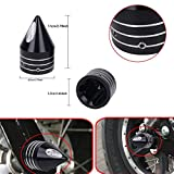 2Pcs 29.5mm Black Deep Cut Front Axle Cap Nut Cover Wheel Cap Bolt For Harley Softail Dyna V-Rod Sportster 1200 883 CVO