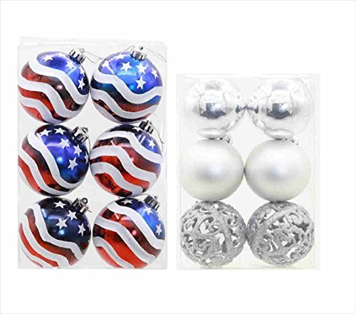 (Vegang Christmas Tree Ornament US Flag Indoor Outdoor Party Decoration (2,)