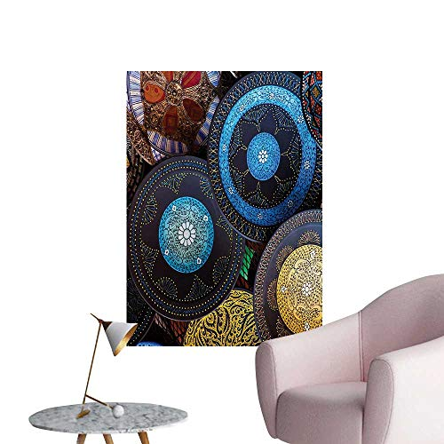 ParadiseDecor Moroccan Photographic Wallpaper Handcrafts Shot at The Market in Morocco Antiquity Tradition Old Touristic PlacesMulticolor W24 xL36 The Office Poster ()