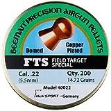 Beeman FTS Copper Plated Domed Airgun Pellets .22-Caliber / 14.72 Grains (200 Count)