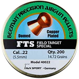 Beeman Fts Copper Plated .22 Cal, 14.72 Grains, Domed (200 Count)