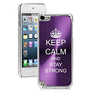Apple iPod Touch 5th Generation Purple 5B566 hard back case cover Keep Calm and Stay Strong