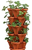 Mr. Stacky 5-Tier Strawberry Planter Pot, 5 Pots