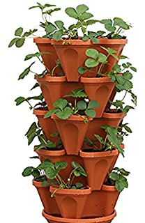 Mr. Stacky 5 Tier Strawberry Planter Pot, 5 Pots Awesome Design