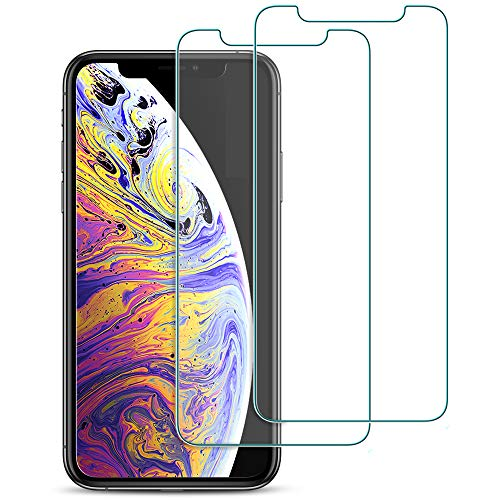 ivvo Compatible with iPhone Xs Max Screen Protector Glass (2 Pack) 6.5 Tempered Glass Screen Protector Flim with [9H Hardness] [HD Clear] [Touch Accurate] for iPhone Xs MAX [Fit Most Cases]