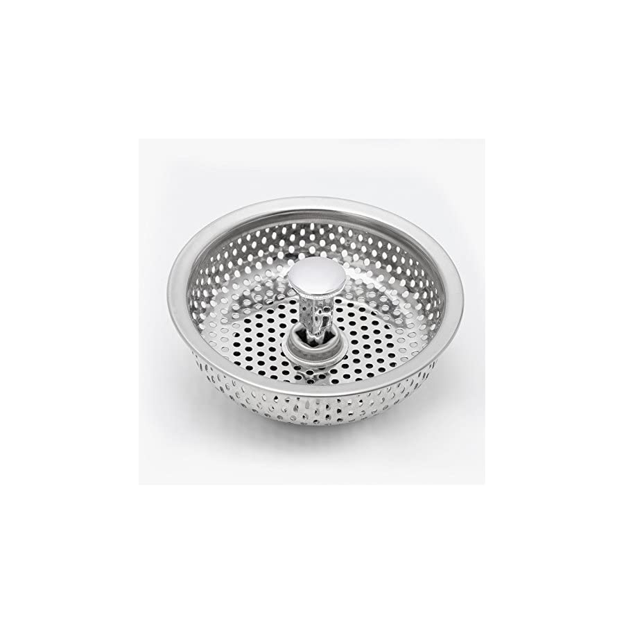 SCASTOE Kitchen Stainless Steel Mesh Sink Strainer Disposer Plug Drain Stopper Filter