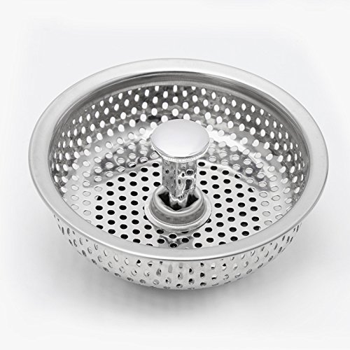 SCASTOE Kitchen Stainless Steel Mesh Sink Strainer Disposer Plug Drain Stopper Filter