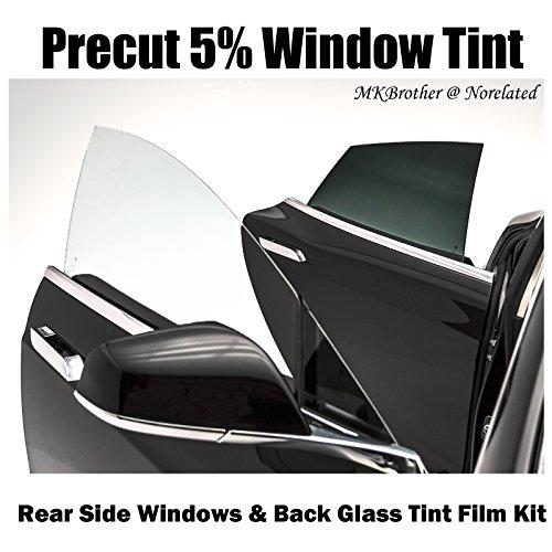 1998-2011 Ford Crown Victoria 5% VLT Limo Black Computer Precut Rear Side Window + Back Glass Tint Film Kit