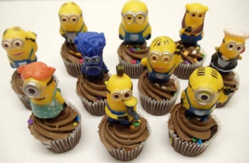 Peachy Despicable Me 10 Piece Minions Birthday Cake Cupcake Topper Set Personalised Birthday Cards Cominlily Jamesorg