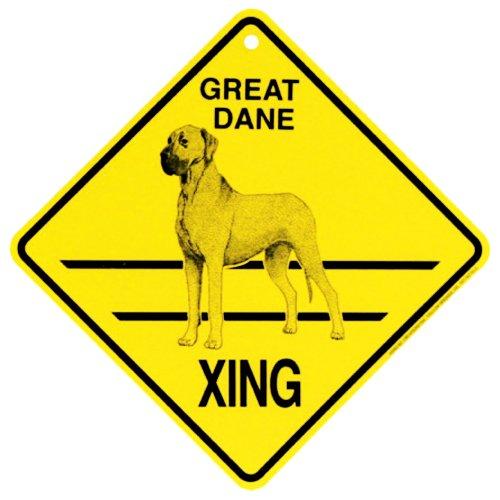 Great Dane Xing SignNatural Ears Great Dane Sign