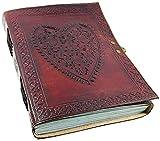 "Handmade Large 8"" Embossed Leather Journal Celtic"