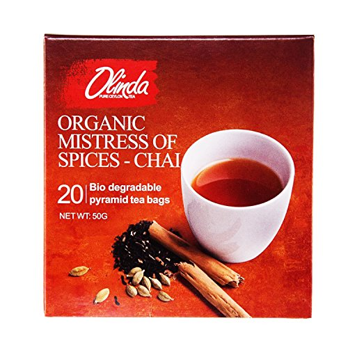 Organic Mistress Of Spices - Chai Tea 18 Boxes (1 Box Contains 20 Tea Bags) by Olinda