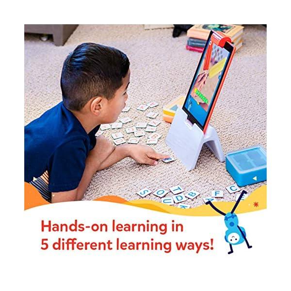 Osmo for Learning Games-Ages Genius Starter Kit 5 Giochi di apprendimento Hands-On-età 6-10-Problem Solving & Creativity-STEM-(Base Tablet Fire Inclusa-Esclusiva), Colore, 901-0008/901-00028 4 spesavip